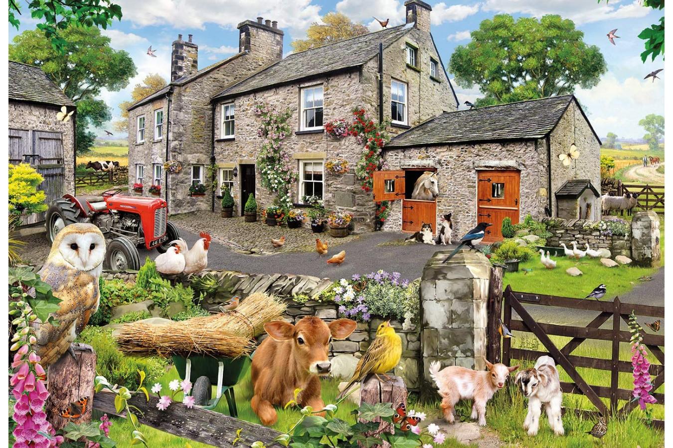 Puzzle Gibsons - Howard Robinson: Farmyard Friends, 100 piese XXL (G2217) imagine