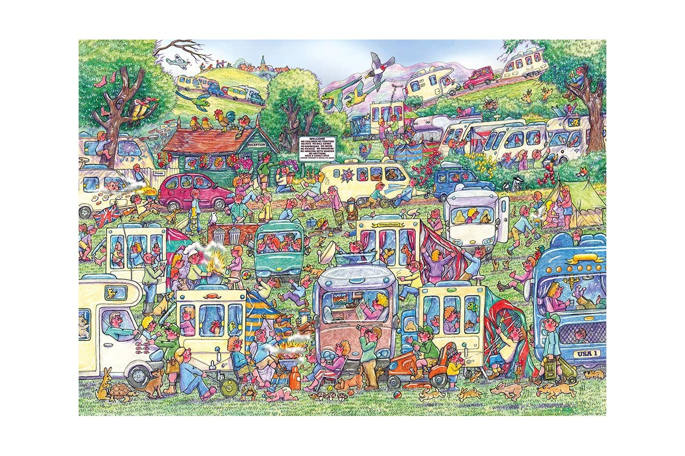 Puzzle Gibsons - Armand Foster: Caravan Chaos, 1.000 piese (G6258) imagine