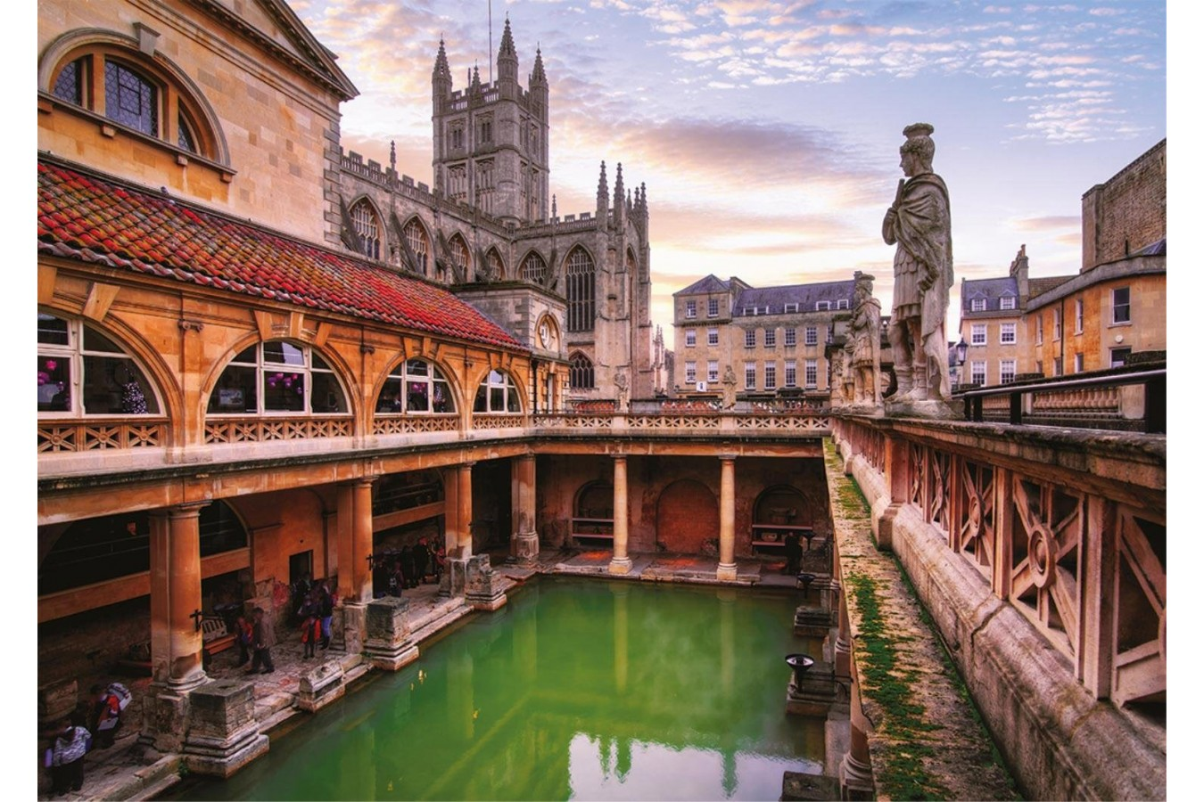 Puzzle Falcon - Roman Baths, Bath, 200 piese XXL (Jumbo-11163) imagine