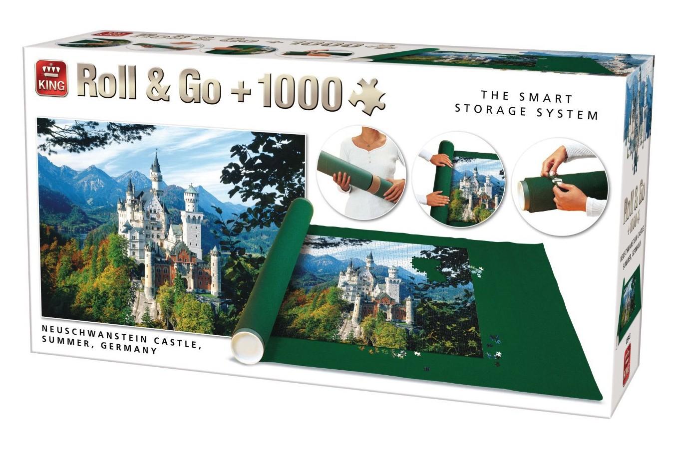 Puzzle King International - Neuschwanstein + covor, 1000 piese (King-Puzzle-05343) imagine