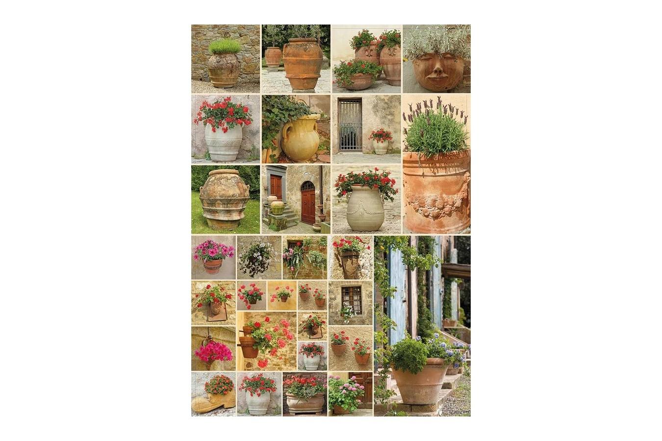 Puzzle Piatnik - Collage - Flowers, 1.000 piese (5455) imagine
