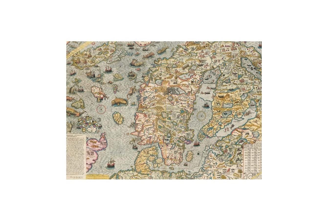 Puzzle Piatnik - Maritime Map, 1.000 piese (5456) imagine