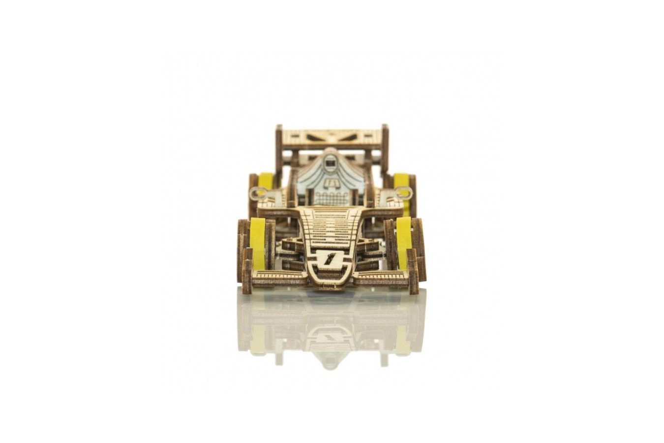 Puzzle 3D din lemn Wooden.City - Bolid, 104 piese (Wooden-City-WR326-8534) imagine