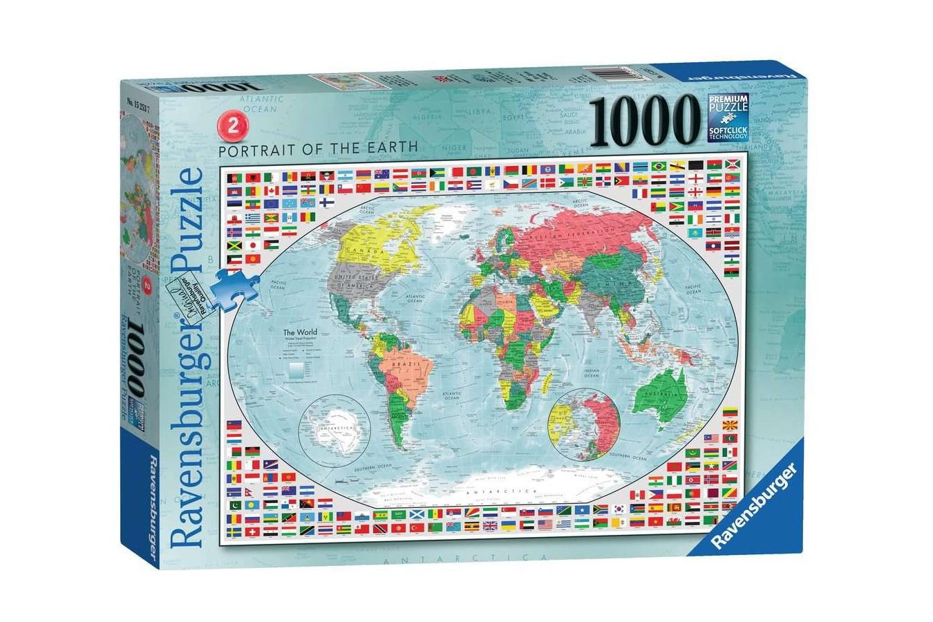 Puzzle Ravensburger - Harta Lumii 2, 1.000 piese (15253) imagine