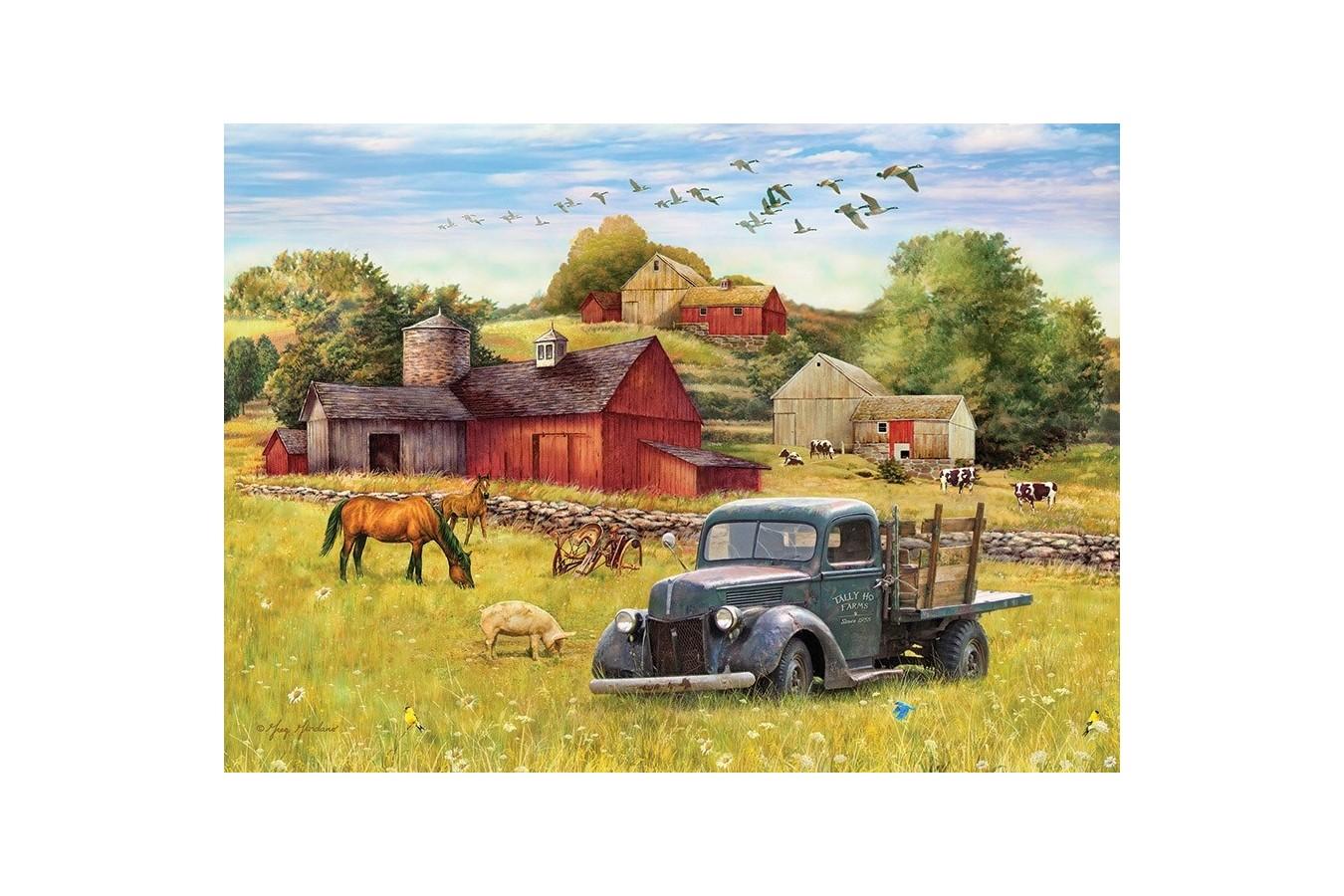 Puzzle Cobble Hill - Blue Truck Farm, 35 piese (Cobble-Hill-58890) imagine