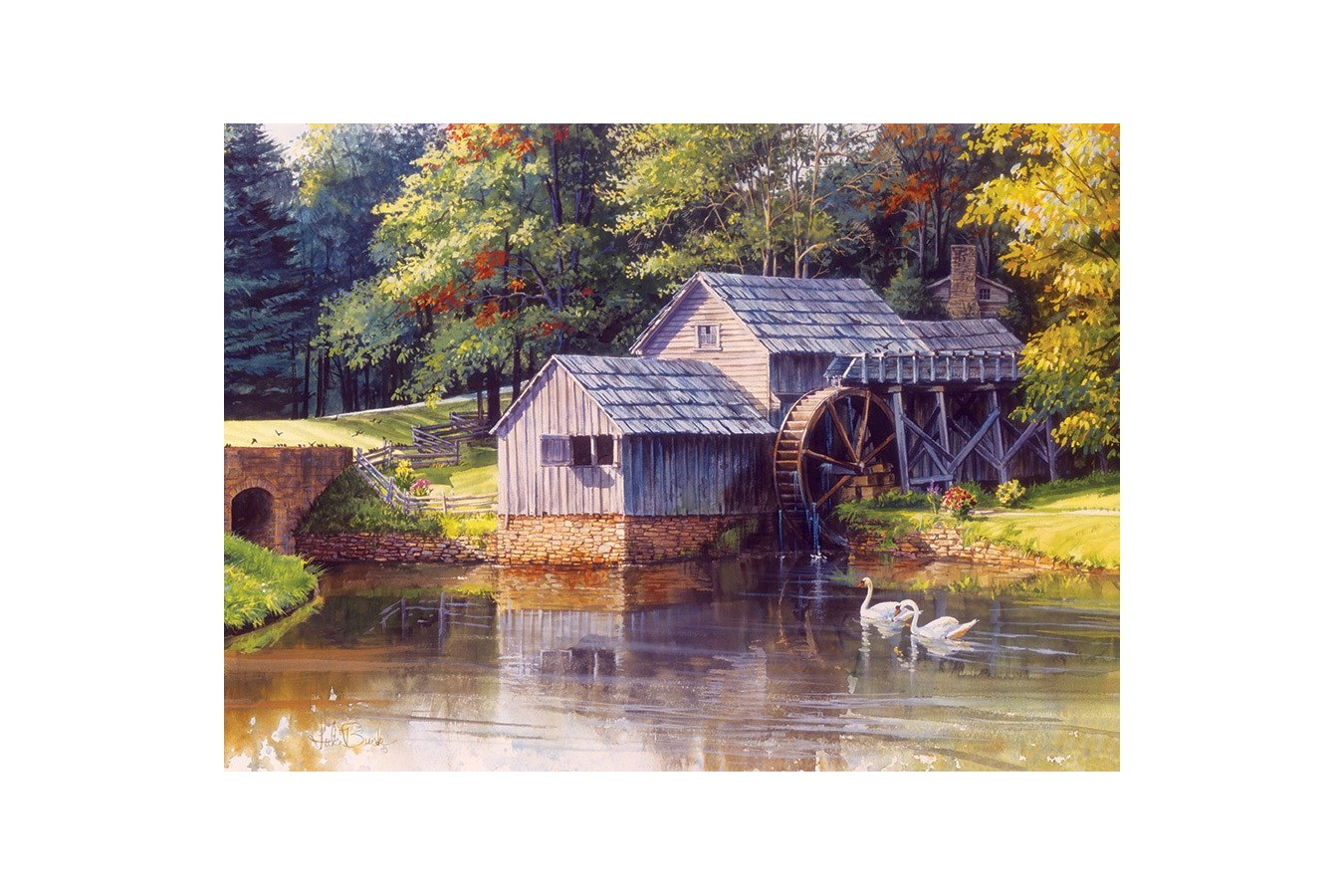 Puzzle Cobble Hill - Mabry Mill, 1.000 piese (Cobble-Hill-80111) imagine