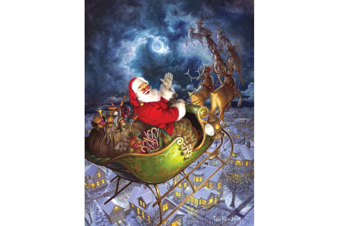 Puzzle Cobble Hill - Merry Christmas to All, 275 piese XXL (Cobble-Hill-88025) imagine