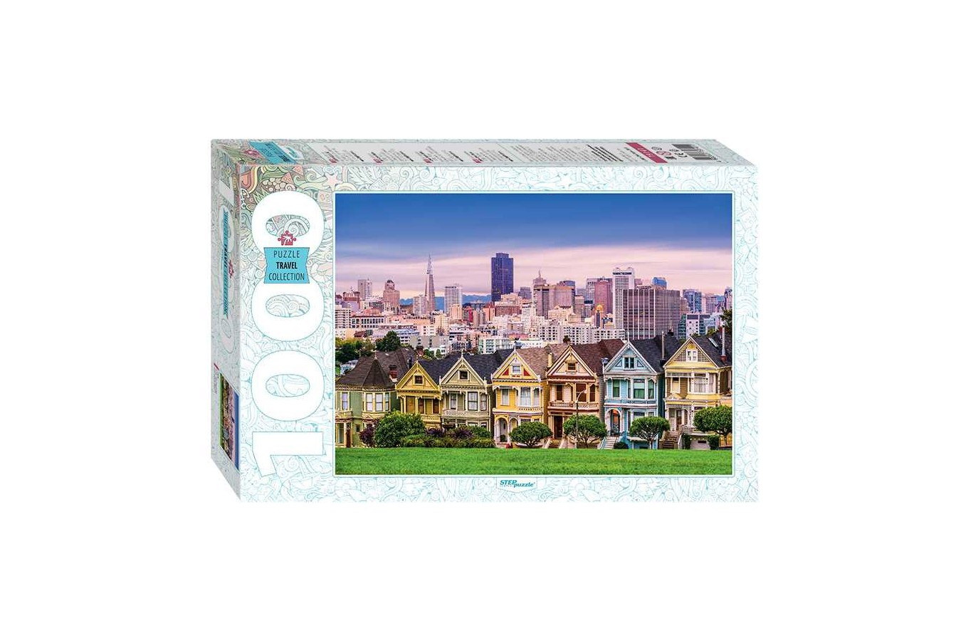 Puzzle Step - The Painted Ladies of San Francisco, 1.000 piese (79141) imagine