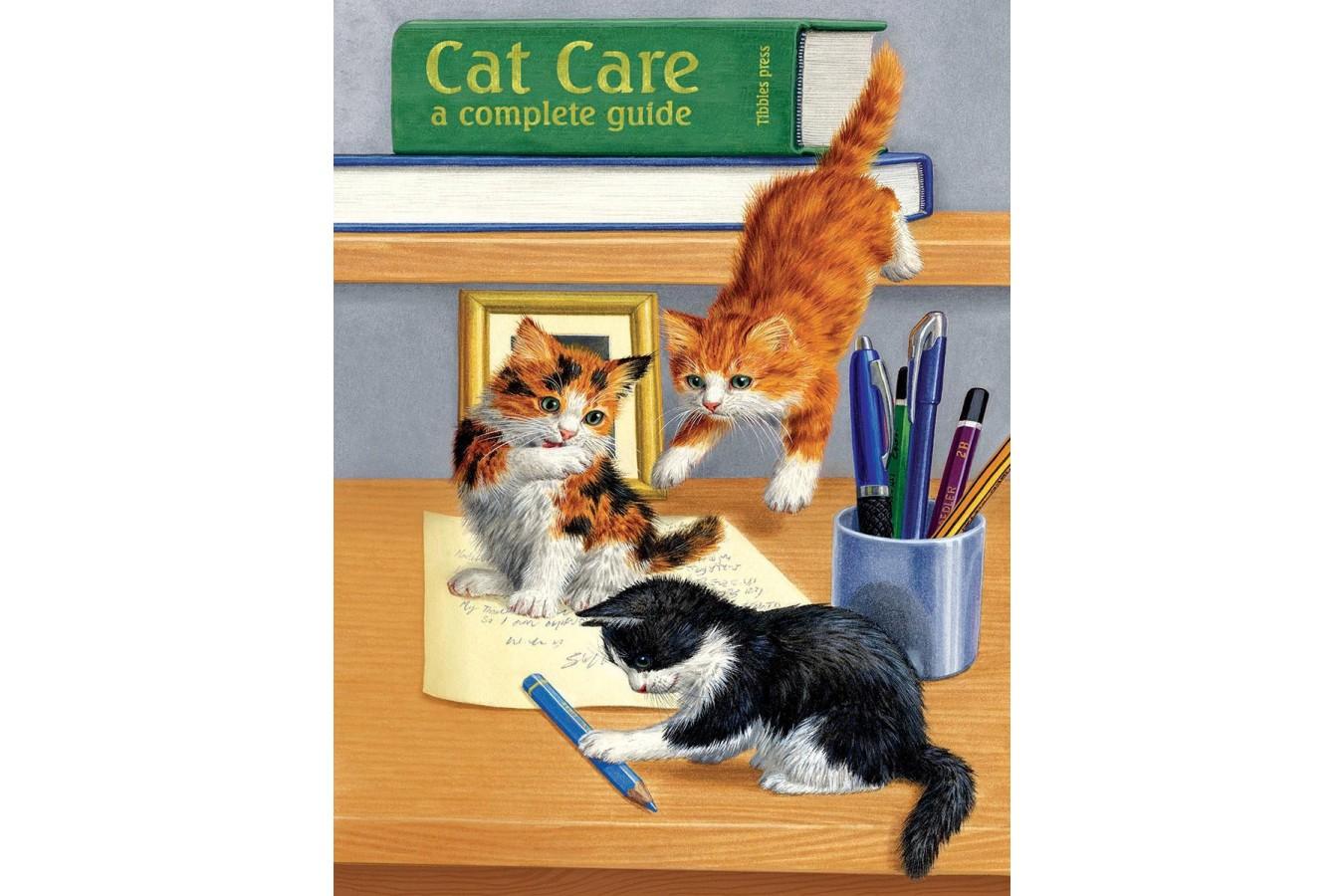 Puzzle SunsOut - Cat Care, 500 piese (Sunsout-51476) imagine