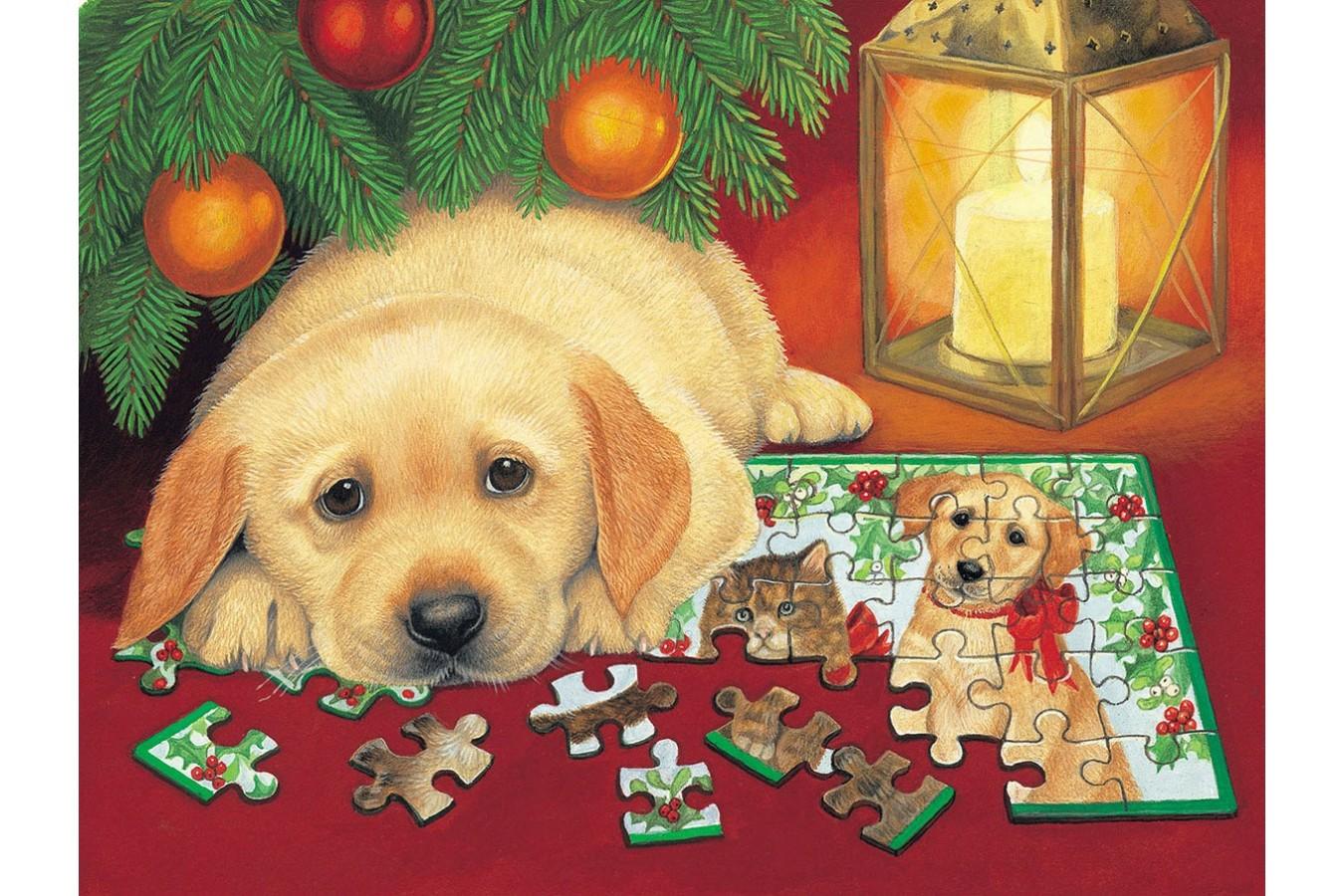 Puzzle SunsOut - A Puzzle for Christmas, 500 piese (Sunsout-59406) imagine