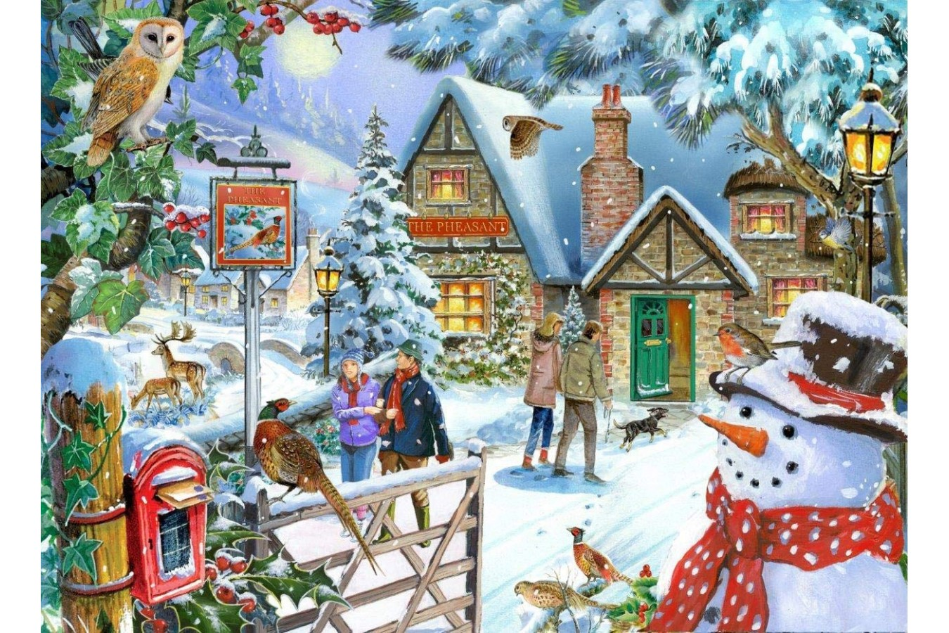 Puzzle The House of Puzzles - Snowman's View, 1.000 piese (The-House-of-Puzzles-5040) imagine