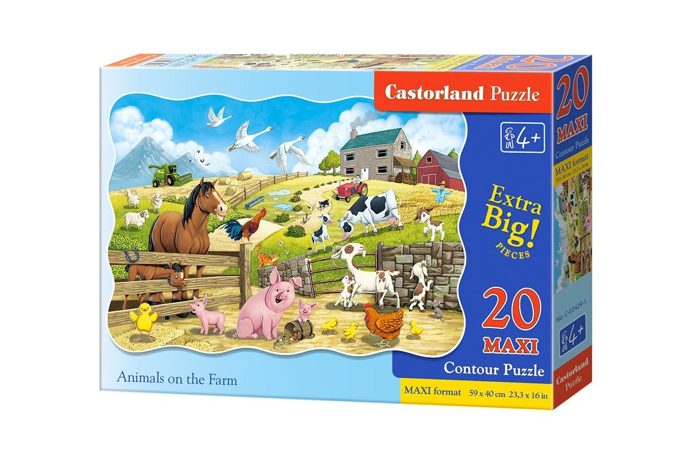 Puzzle Castorland - Farm Animals, 20 piese XXL (02429) imagine
