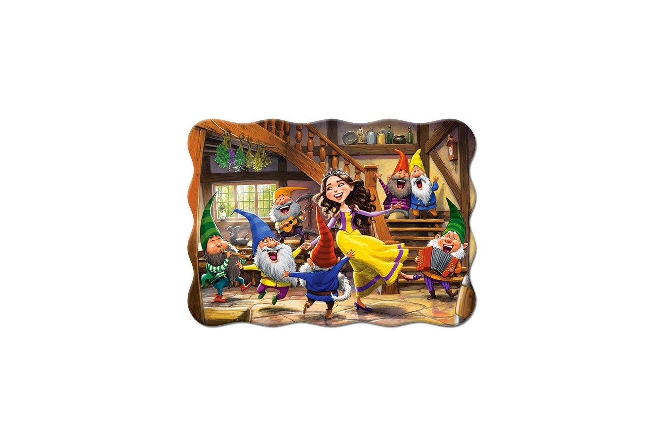Puzzle Castorland - Snow White and the Seven Dwarfs, 30 piese (03754) imagine