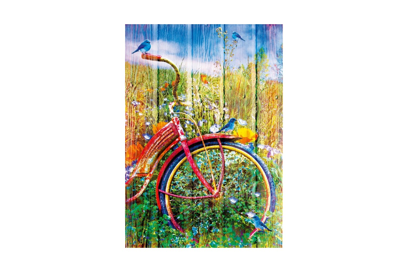 Puzzle Bluebird - Bluebirds on a Bicycle, 1.000 piese (70300-P) imagine