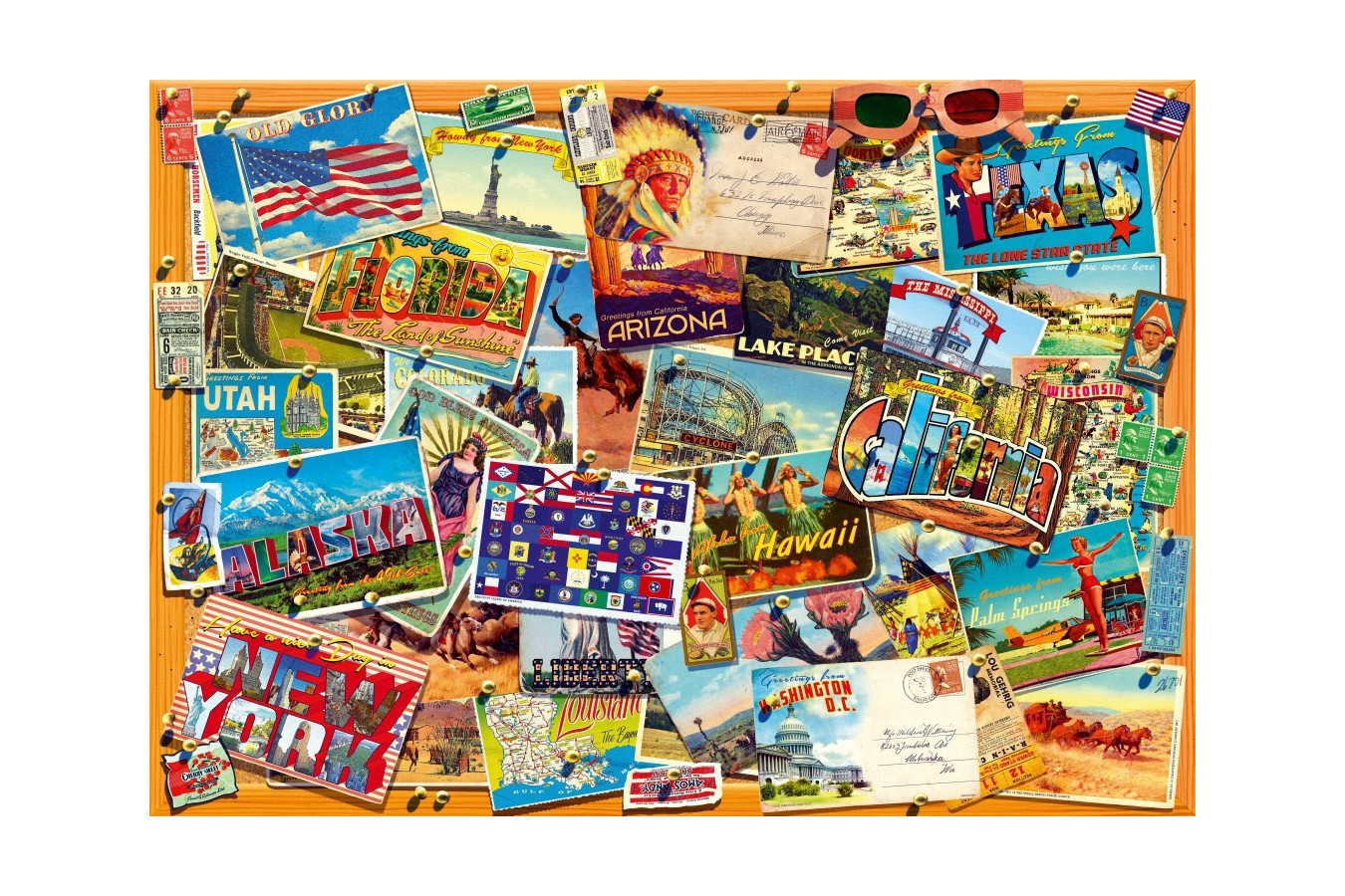 Puzzle Bluebird - Postcard (USA), 1.000 piese (70309-P) imagine