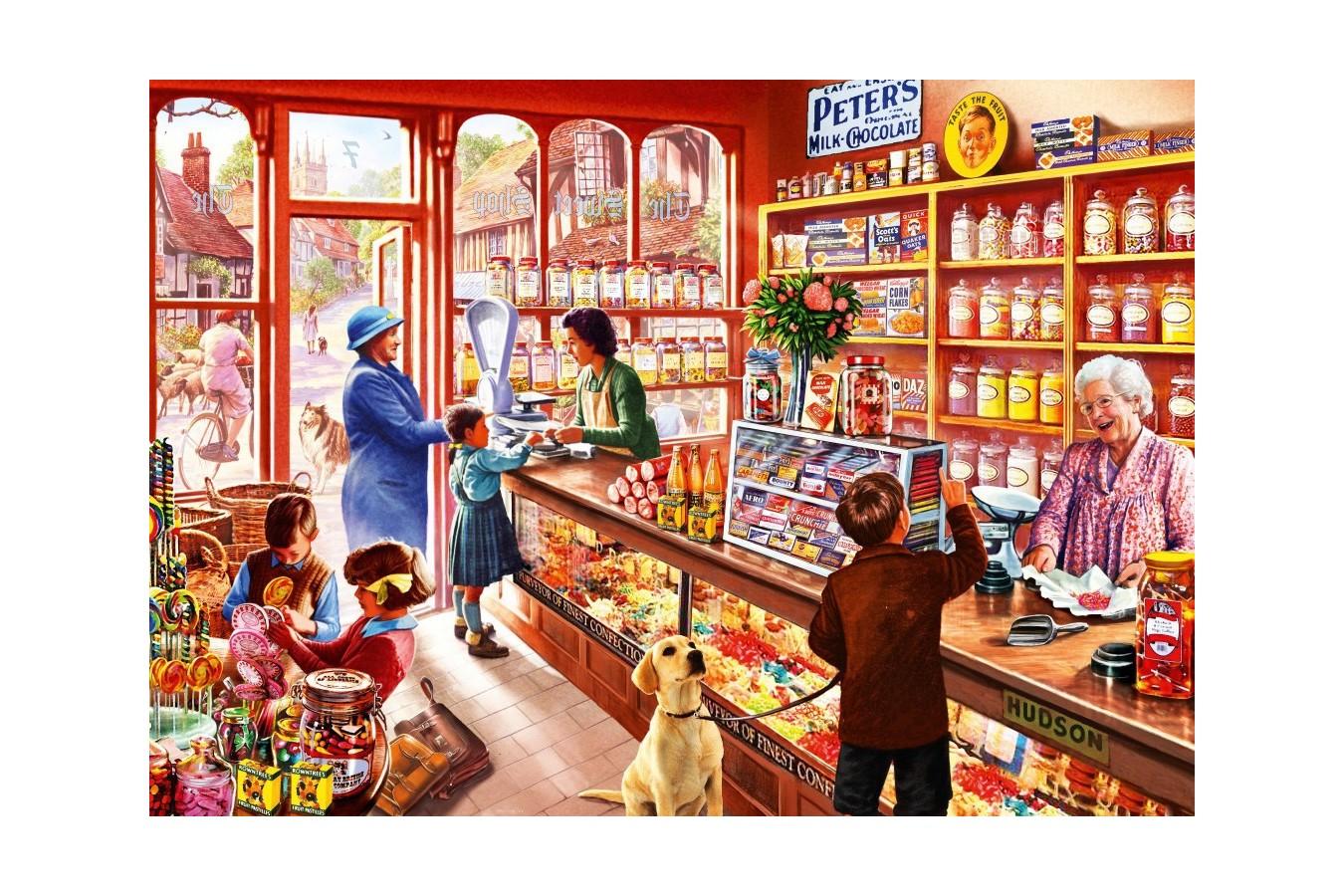 Puzzle Bluebird - Steve Crisp: Sweetshop, 1.000 piese (70318-P)