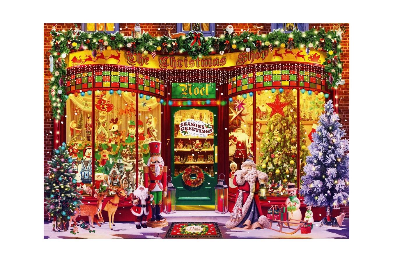 Puzzle Bluebird - Festive Shop, 1.000 piese (70342-P) imagine
