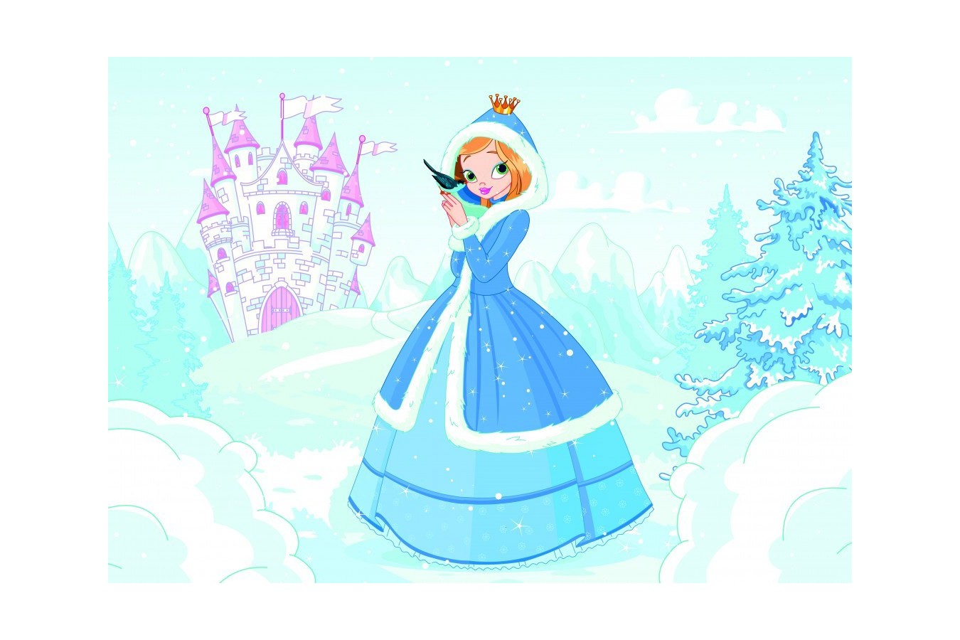 Puzzle Bluebird - Princess in the Snow, 48 piese (70358) imagine