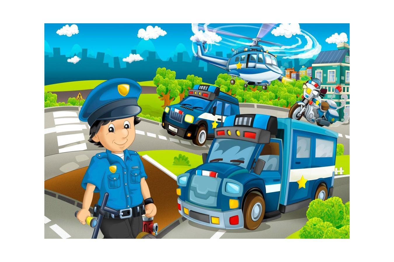 Puzzle Bluebird - Police Rescue Team, 48 piese (70363) imagine