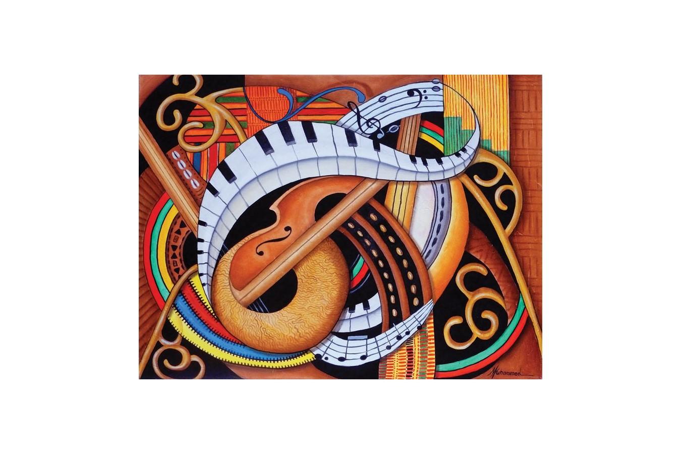 Puzzle SunsOut - Sound of Soul Strings, 500 piese XXL (Sunsout-39366) imagine