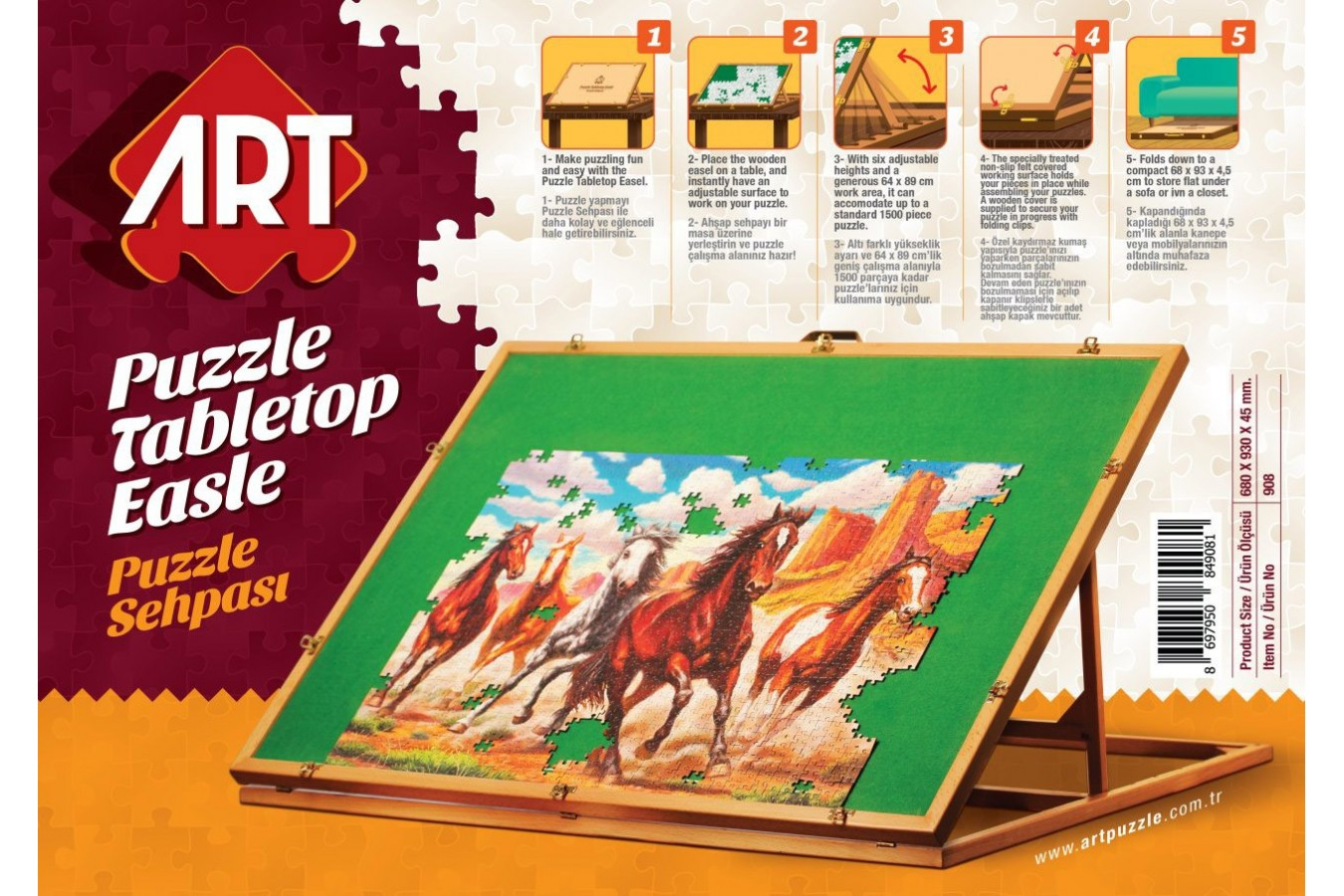 Masa pentru Puzzle Art Puzzle - 1000 piese imagine