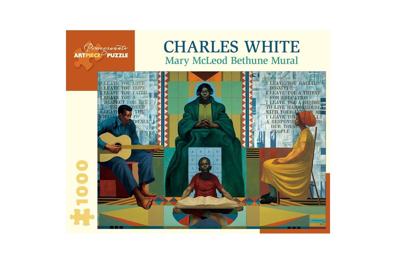 Puzzle Pomegranate - Charles White: Mary McLeod Bethune, 1978, 1.000 piese (AA1054) imagine