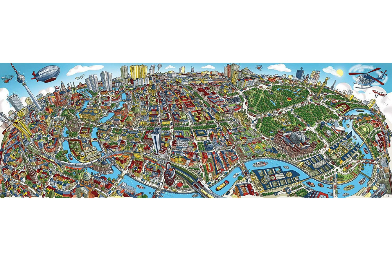 Puzzle panoramic Schmidt - Cityscape Berlin, 1.000 piese (59594) imagine
