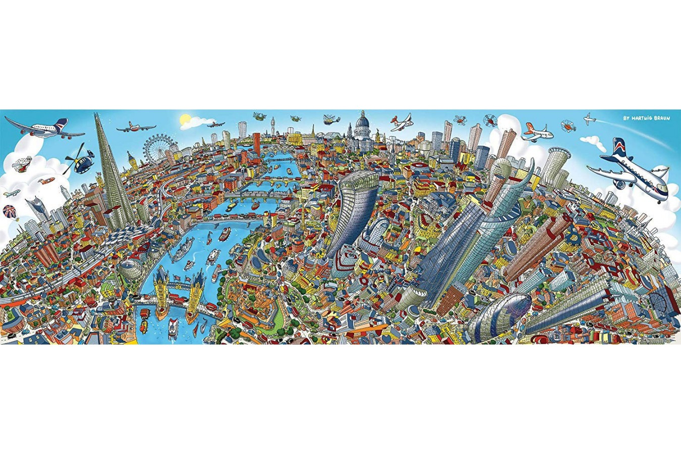 Puzzle panoramic Schmidt - Cityscape London, 1.000 piese (59596) imagine