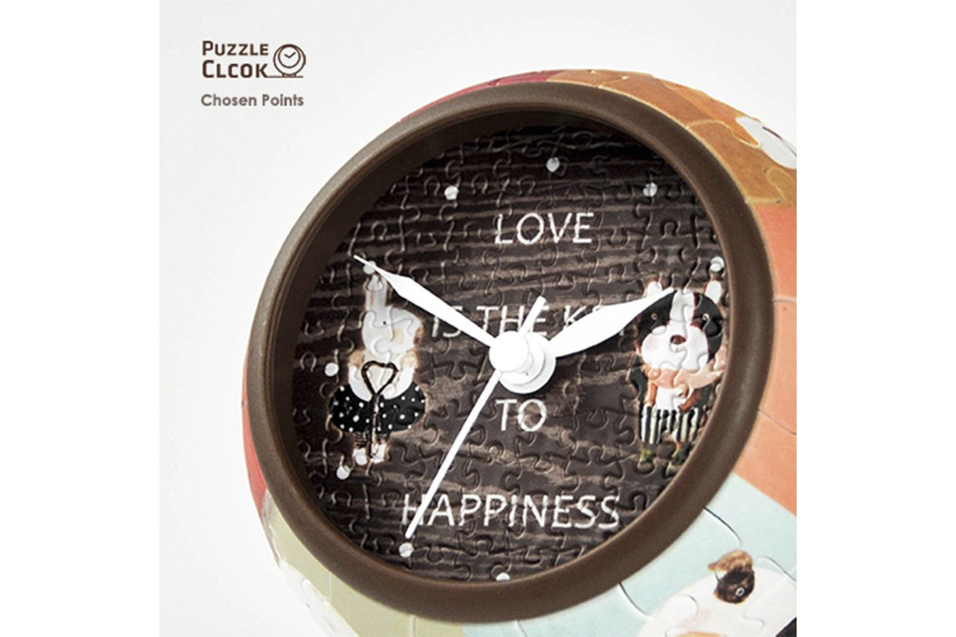 Puzzle 3D ceas din plastic Pintoo - Love is Key to Happiness, 145 piese (KC1001) imagine