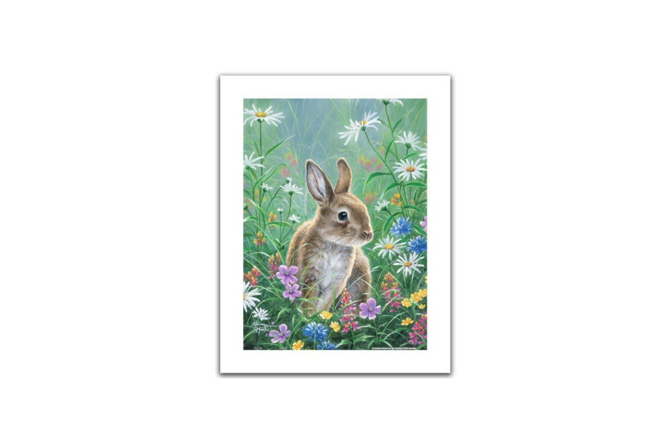 Puzzle din plastic Pintoo - Abraham Hunter: Spring Bunny, 300 piese (H2082) imagine