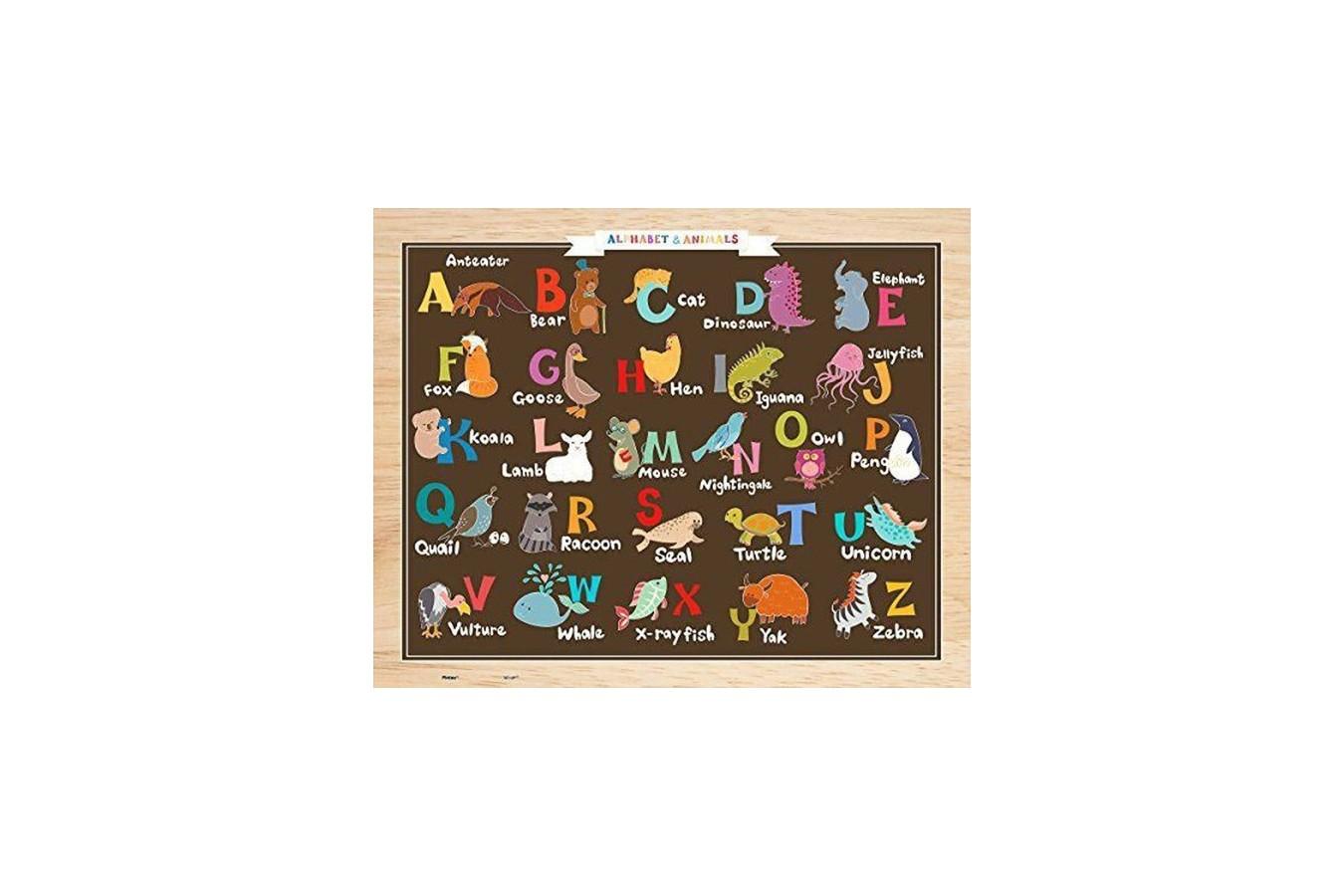 Puzzle din plastic Pintoo - Alphabet and Animals, 80 piese (T1022) imagine