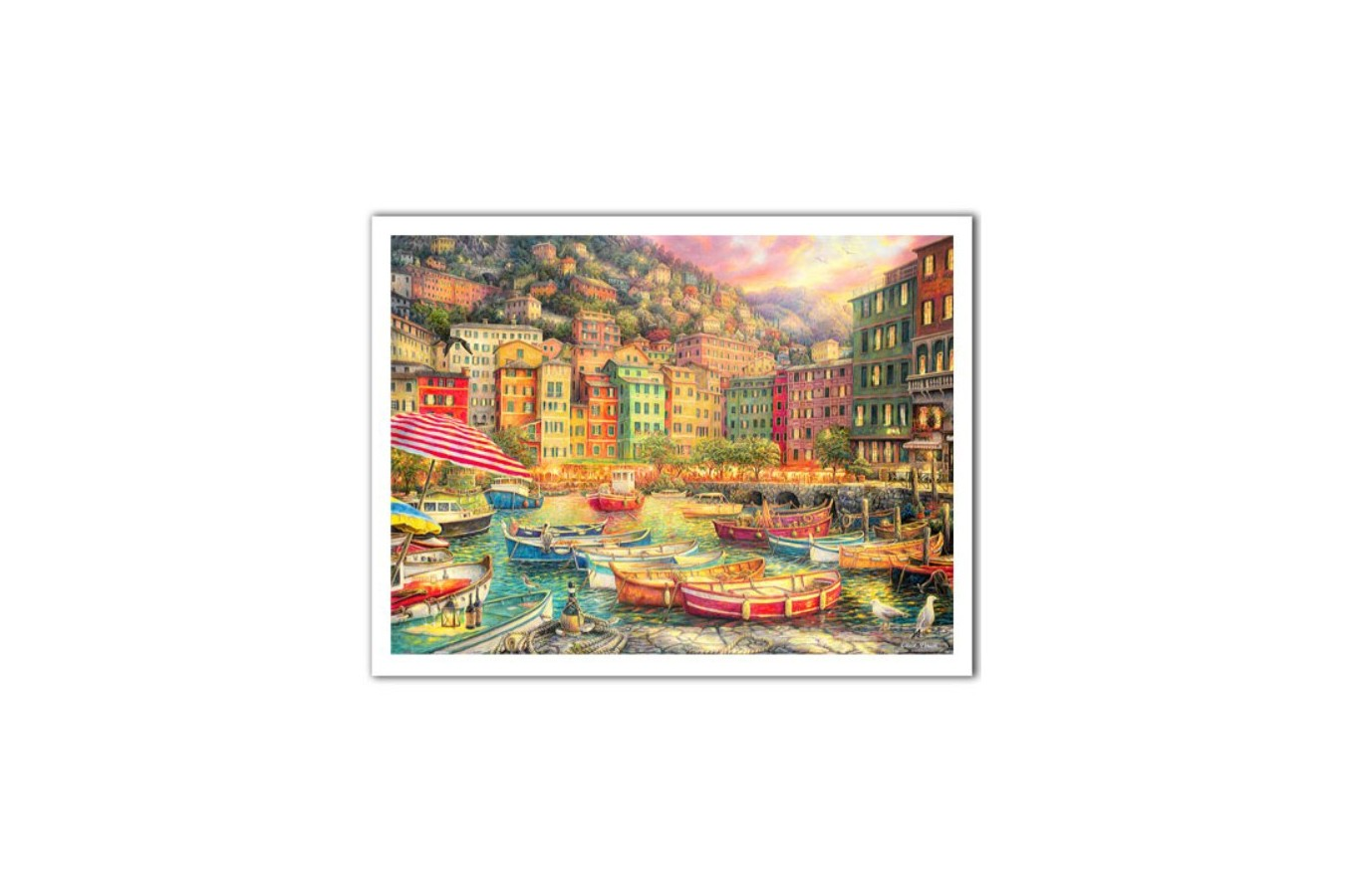 Puzzle din plastic Pintoo - Chuck Pinson: Vibrance of Italy, 1200 piese (H2057) imagine