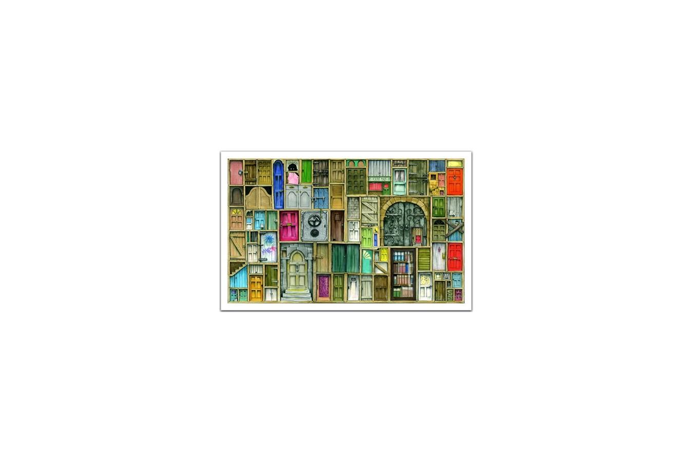 Puzzle din plastic Pintoo - Closed Doors, 1.000 piese (H1201) imagine
