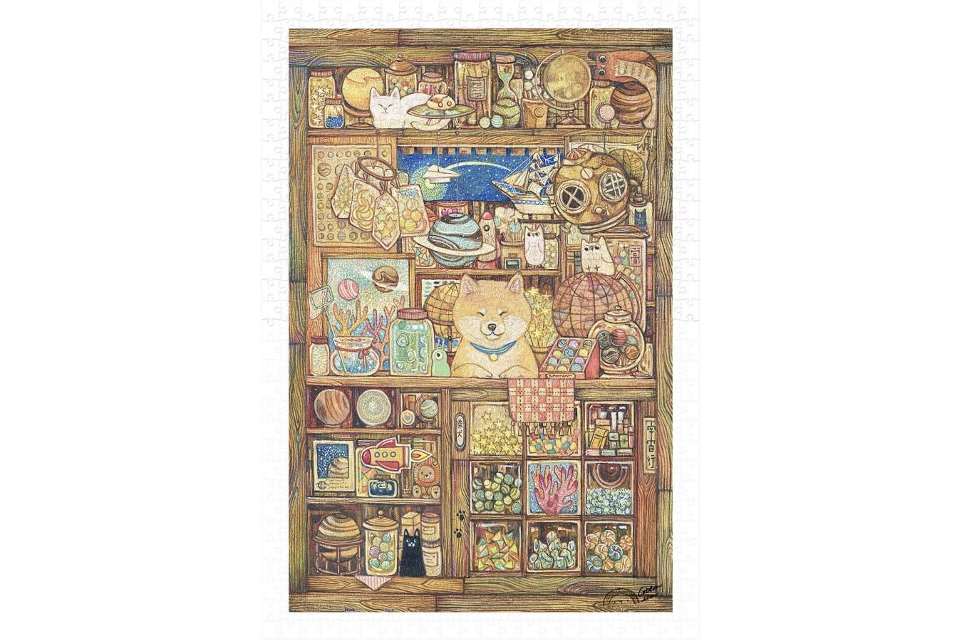 Puzzle din plastic Pintoo - Cotton Lion - Shiba's Grocery Store, 600 piese (H2137) imagine