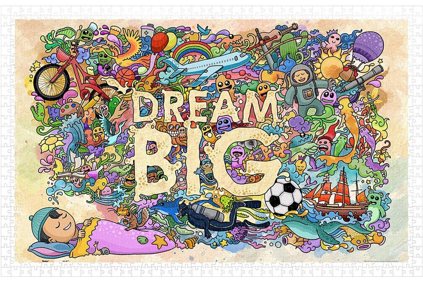 Puzzle din plastic Pintoo - Dream Big, 1.000 piese (H1671) imagine