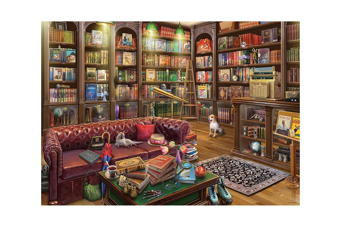 Puzzle din plastic Pintoo - Eduard - Ye Olde Bookshop, 1200 piese (H2084) imagine