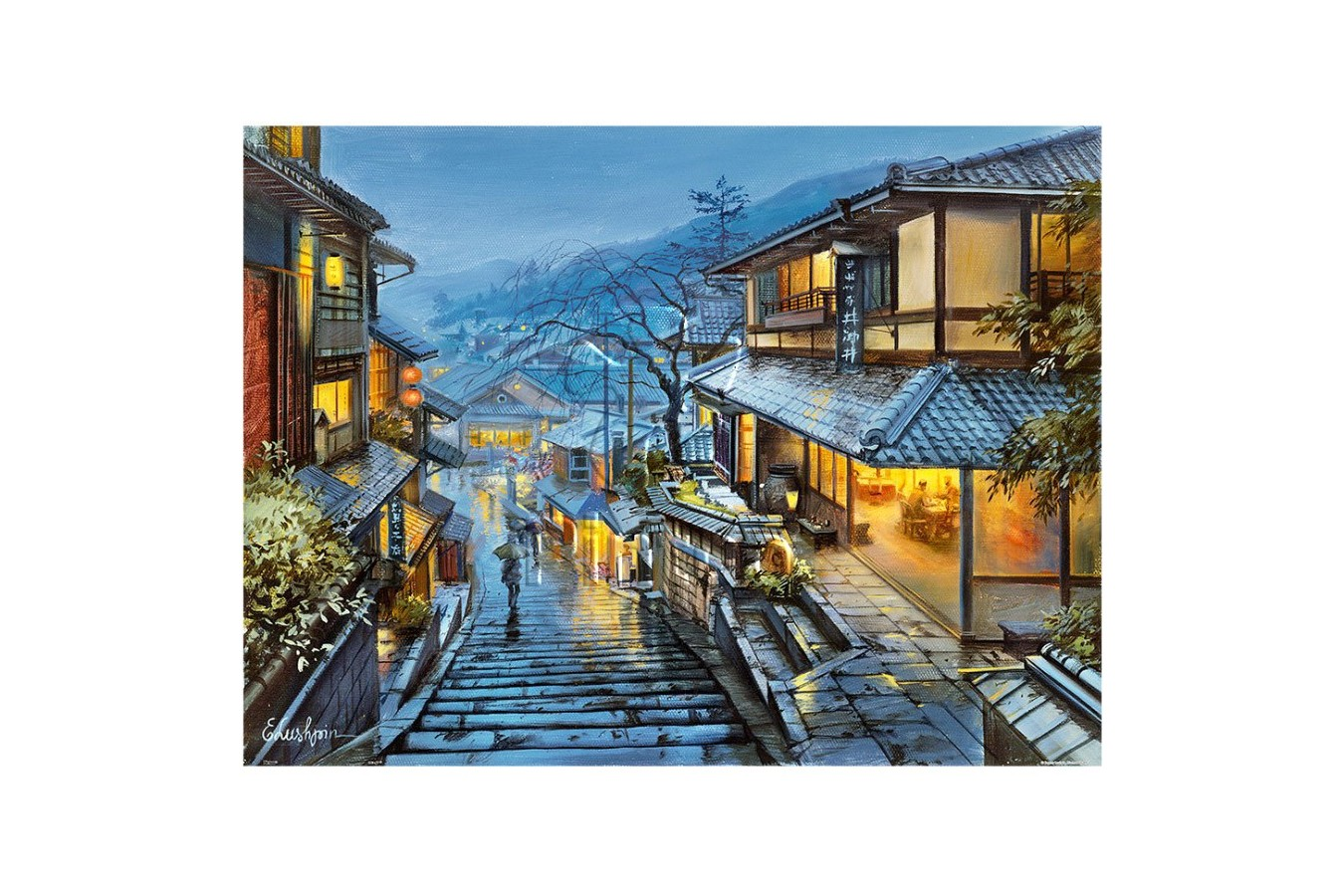 Puzzle din plastic Pintoo - Eugeny Lushpin: Old Kyoto, 1200 piese (H2001) imagine