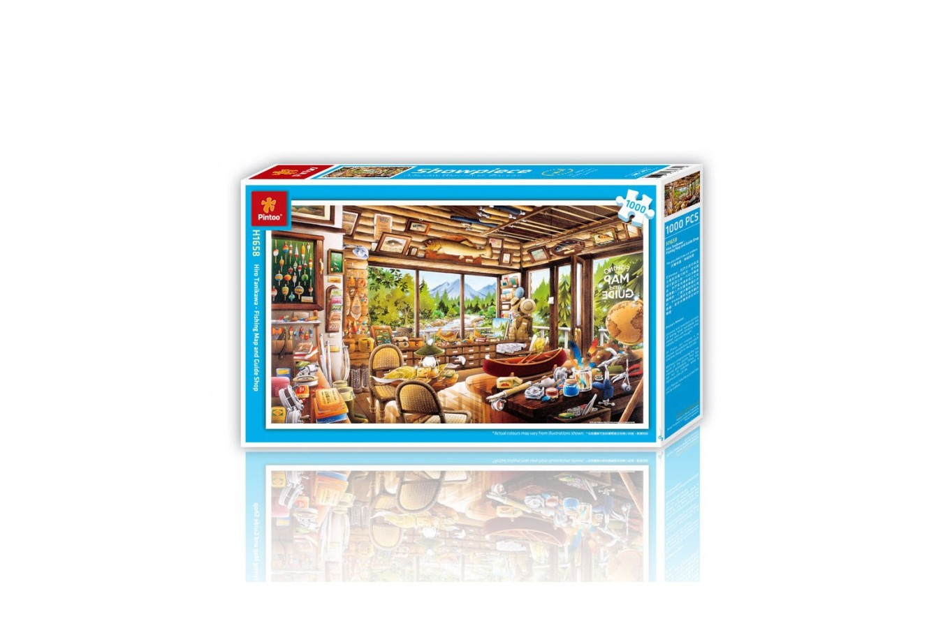 Puzzle din plastic Pintoo - Fishing Map and Guide, 1.000 piese (H1658) imagine