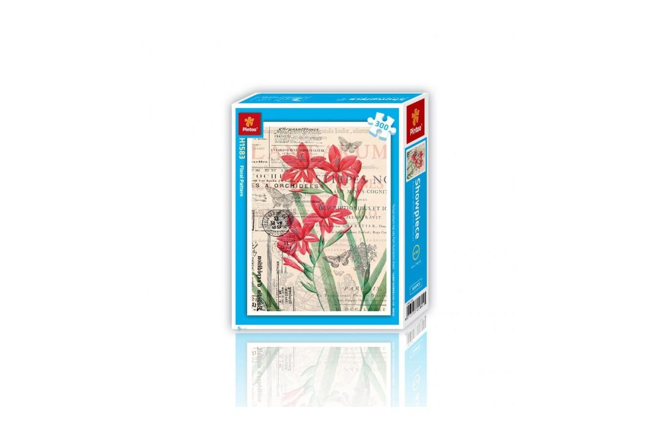 Puzzle din plastic Pintoo - Floral Pattern, 300 piese (H1583) imagine