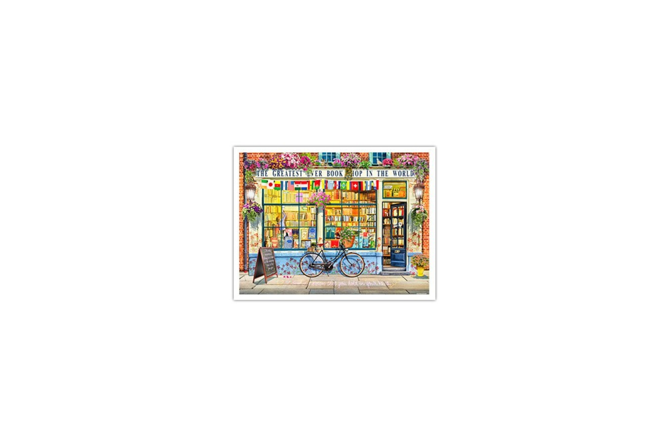 Puzzle din plastic Pintoo - Garry Walton: Greatest Bookshop In The World, 1200 piese (H1994) imagine