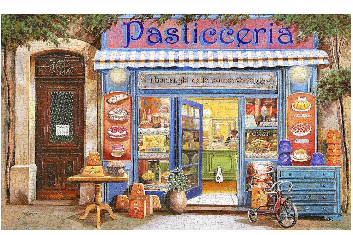 Puzzle din plastic Pintoo - Guido Borelli: Pastry Shop, 1.000 piese (H1998) imagine