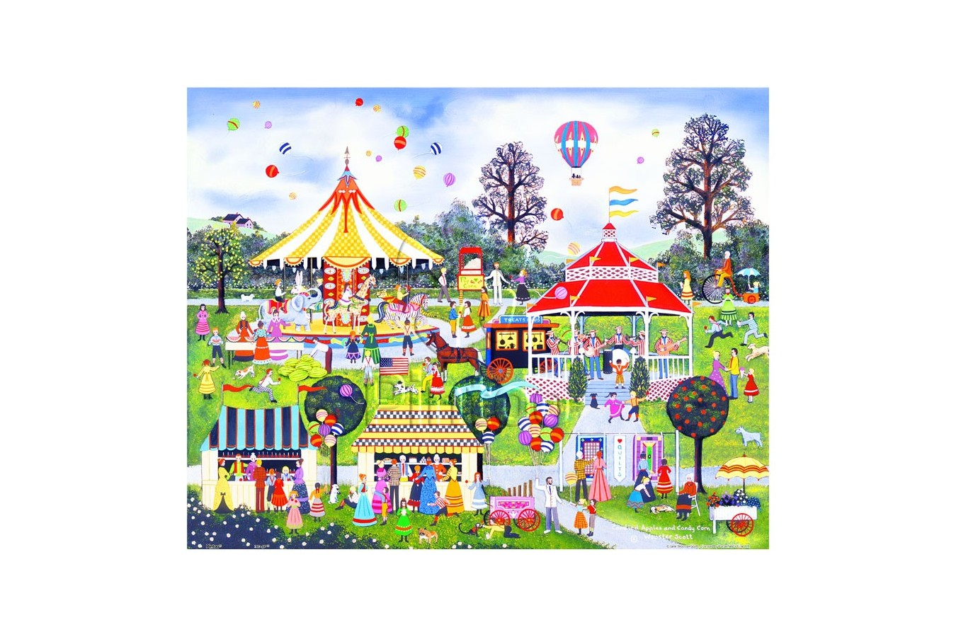 Puzzle din plastic Pintoo - Jane Wooster Scott: Candied Apples and Candy Corn, 500 piese (H2062) imagine