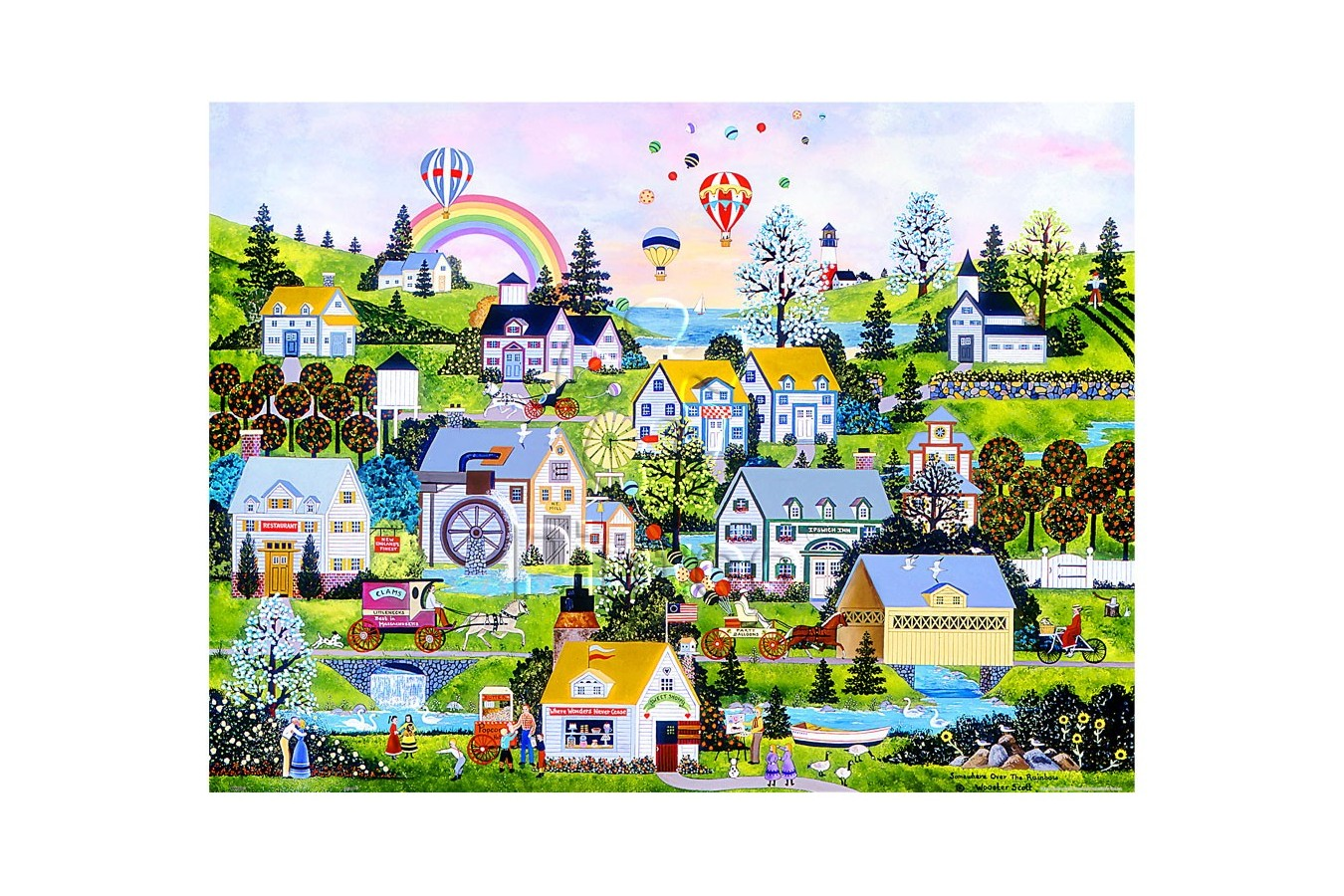 Puzzle din plastic Pintoo - Jane Wooster Scott: Somewhere Over the Rainbow, 1200 piese (H2069) imagine