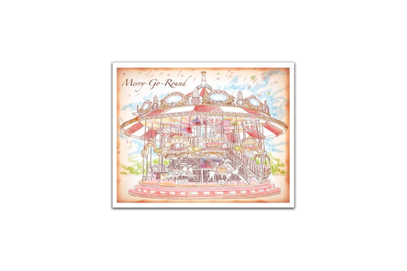 Puzzle din plastic Pintoo - Merry Go Round, 500 piese (H1545) imagine