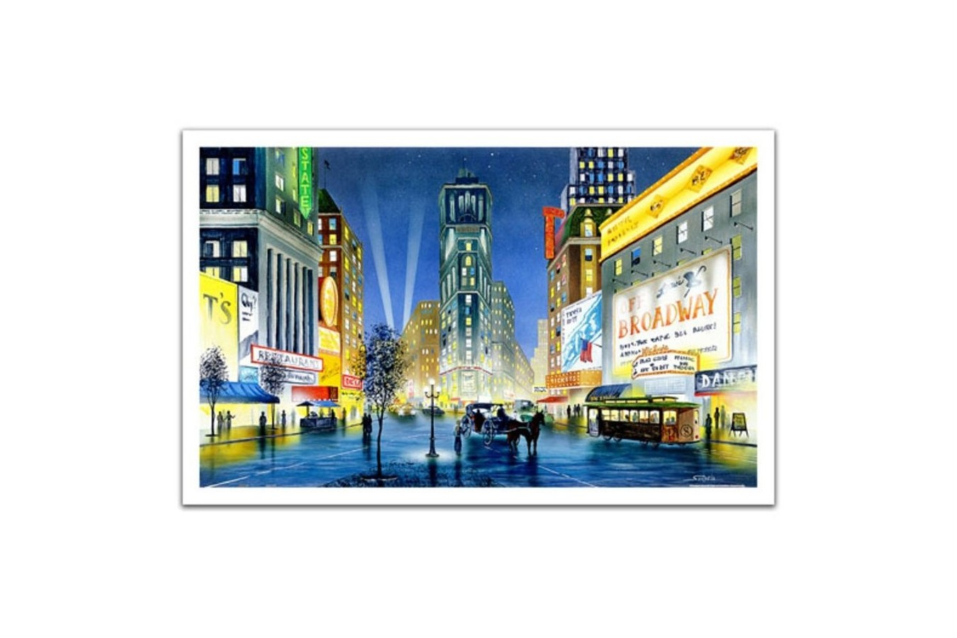 Puzzle din plastic Pintoo - Night in New York, 1.000 piese (H1997) imagine