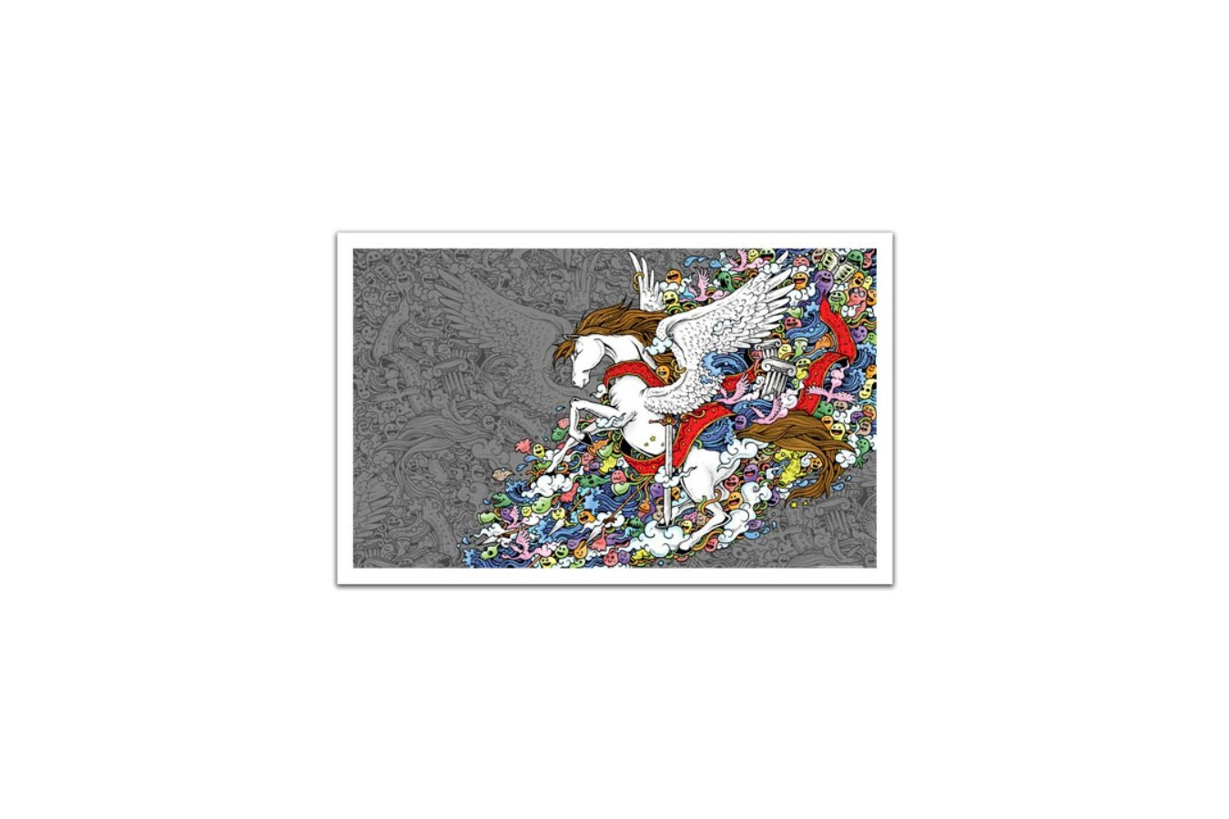 Puzzle din plastic Pintoo - Pegasus, 1.000 piese (H1673) imagine