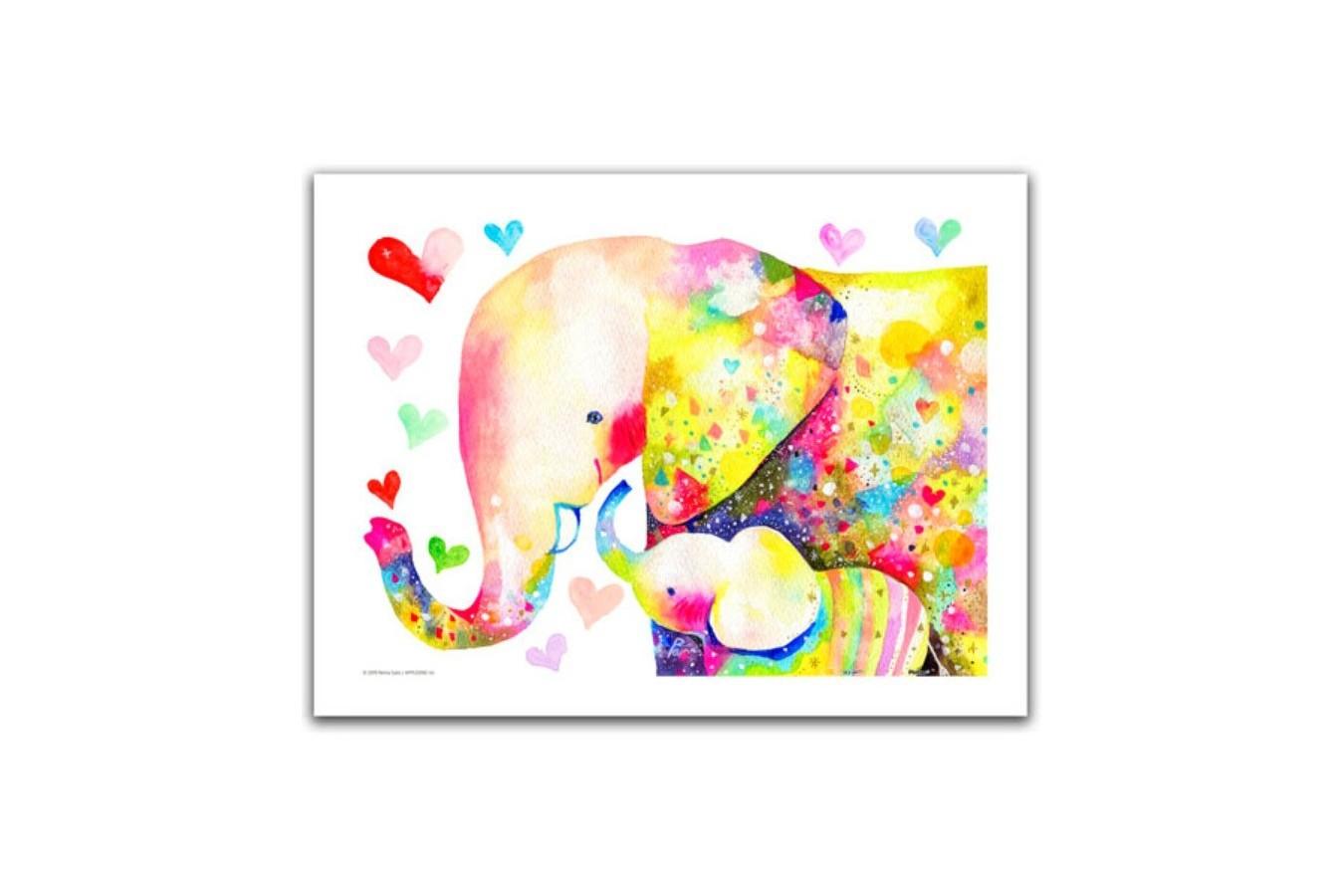 Puzzle din plastic Pintoo - Reina Sato: Elephant Family, 300 piese (H2106) imagine