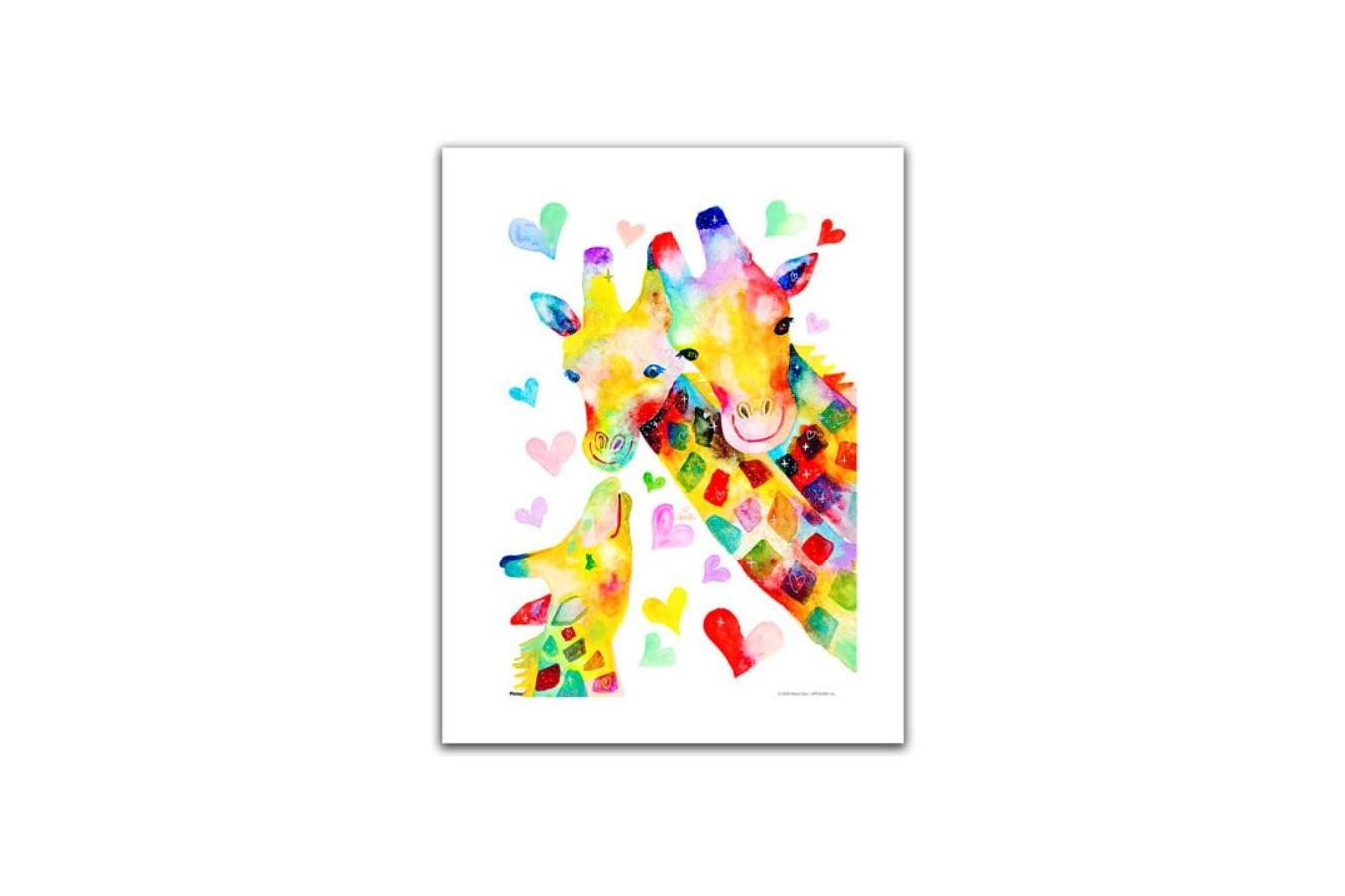 Puzzle din plastic Pintoo - Reina Sato: Giraffe Family, 300 piese (H2092) imagine