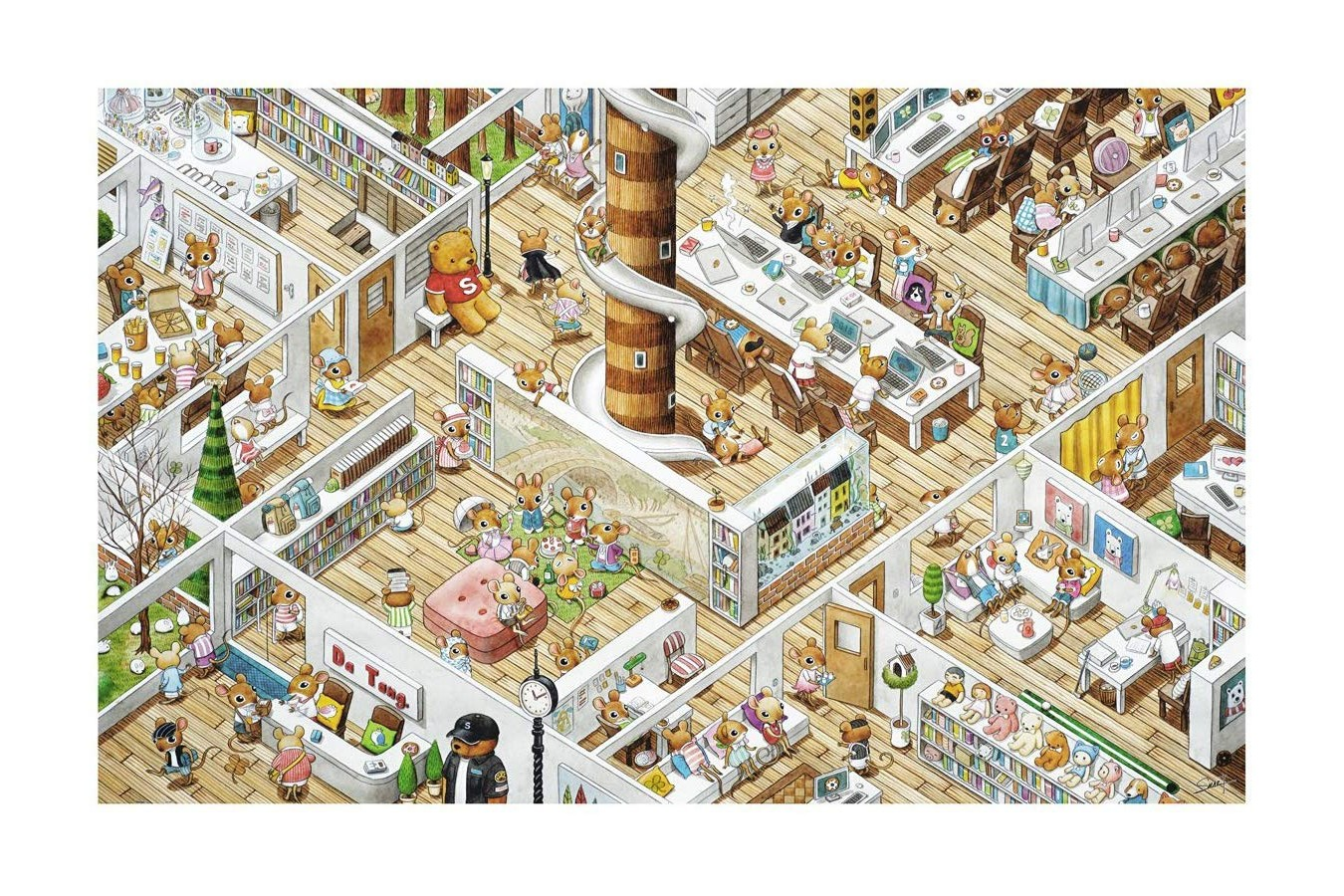 Puzzle din plastic Pintoo - Smart - The Office, 4.000 piese (H1777) imagine