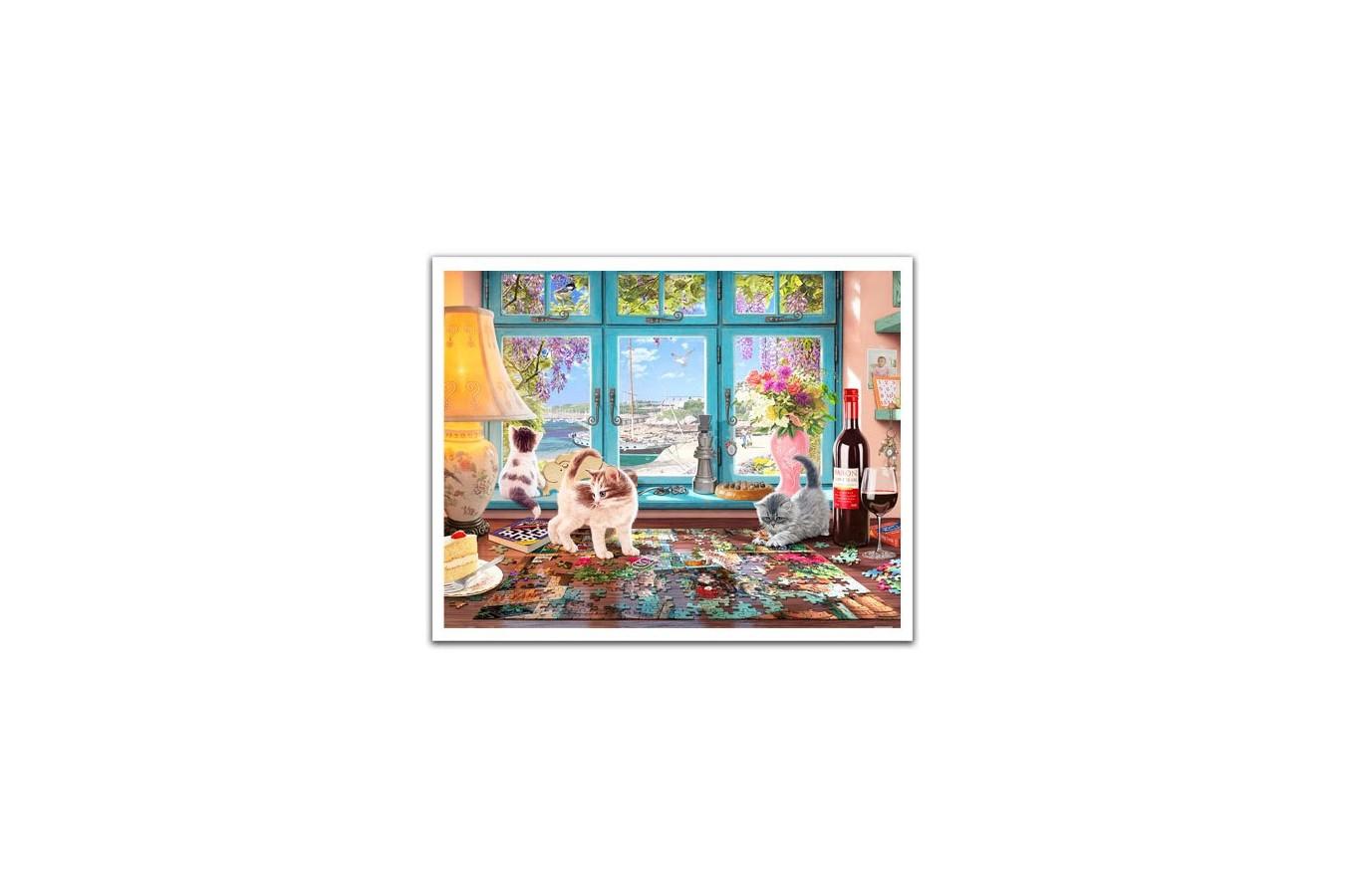 Puzzle din plastic Pintoo - Steve Read: Puzzlers Desk, 2.000 piese (H1986) imagine
